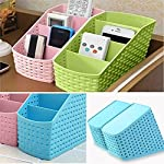 •COLOUR AS PER AVAILABILITY which are Green,Pink,Grey,Blue •4 different height sections for your cosmetics, remote controls, kitchen supplies tools and office supplies equipment or other things of different size. •Used as a desk-top organizer for off...