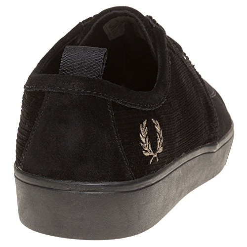 Fred Perry Shields Cord Homme Baskets Mode Bleu Noir