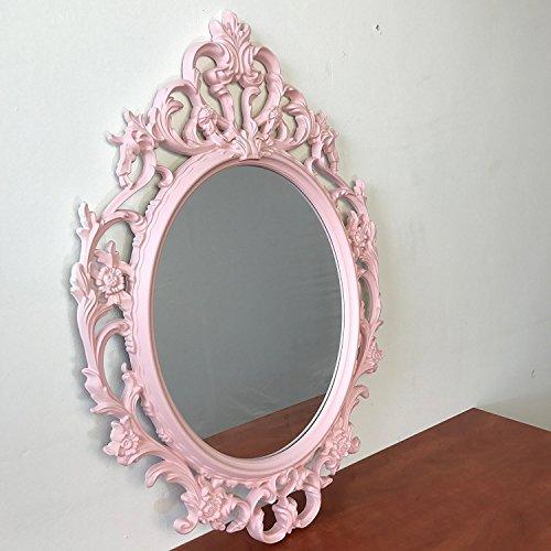 Spiegel Wandspiegel Antik-Stil Barock 84x57cm Hängespiegel Flurspiegel Pink