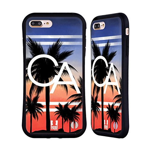 Head Case Designs New York Mode Villes Étui Coque Hybride pour Apple iPhone 5 / 5s / SE La Californie