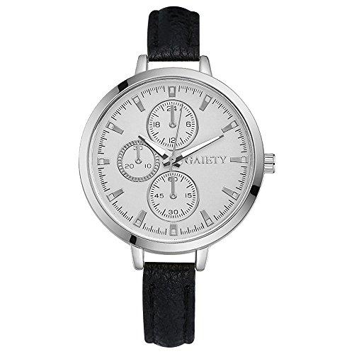 rainbabe Fake three-eye printedd six-pin Herren Uhren Analog Quarz Watch Geschenk Watch 24cm mit 3,6cm Fall