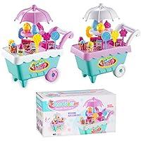Nisels Gelato giocattolo, gelato Candy Gioco di ruolo con musica, carrello gelato, giocattolo per bambini gelato