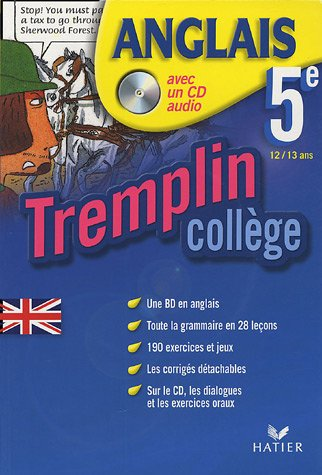 Anglais 5e Tremplin Collège : 12/13 ans (1CD audio) par Laurent Dedryver