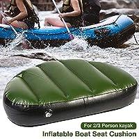 Dream-cool - Cojín hinchable para kayak, cojín de asiento de canoa, impermeable, resistente al desgaste, cómodo acolchado de asiento – 19,68 × 11,81 × 3,94 pulgadas