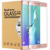Protector de Pantalla Galaxy S7 Edge, Nakeey HD Vidrio Templado Protector de Pantalla [Cobertura Completa] Cristal Templado de Película Protectora para el Samsung S7 Edge - Rosa