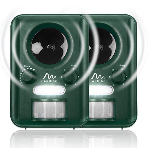 Gardigo Repellente Ultrasuoni a batteria o ad energia solare - Set di...