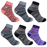 L&K 6 Paar Damensocken Sportsocken Thermosocken Damen Socken Baumwolle Winter 92263 35-38