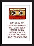 Oasis Live Forever Lyrics Unframed Print