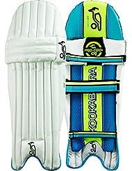 Kookaburra Verve 300Hombre Kids–Protectores de pierna de bateo de cricket, color Blanco - blanco, tamaño hombres