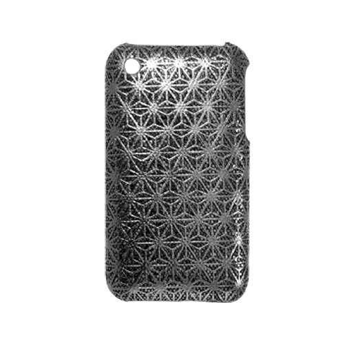 DealMux Antislip Glittery Black Flower Hard Case voor iPhone 3G