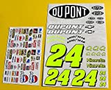 RC Nascar Jeff Gordon stil #24 1/10th aufkleber sticker