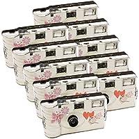 10 x Photo porst boda Cámara desechable con mariposa/cámara/Party Cámara (por 27 fotos,con flash,10 unidades)
