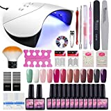 Gel Nail Polish UV Lamp LED Dryer Kit Saint-Acior Nail Polish Starter Kit