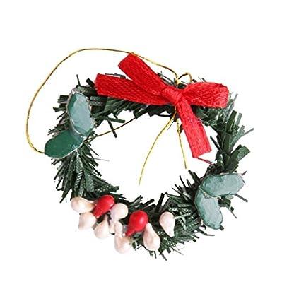 MagiDeal-Miniatur-hngende-Weihnachtskranz-mini-Kranz-Weihnachtsschmuck-fr-112-Puppenstuben