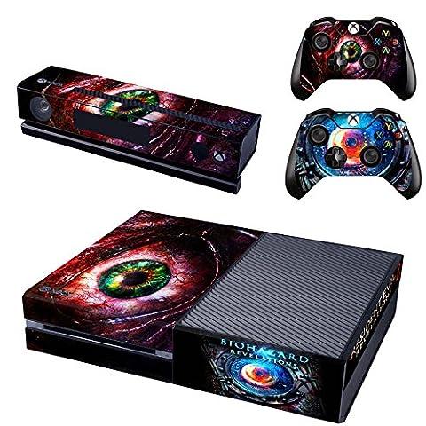 XBox One und Kamera + 2 Controller Aufkleber Schutzfolie Set - Resident Evil Revelations 2 (Resident Evil Controller)