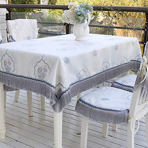 Pique-nique Accueil style européen maison table à manger tissu Jacquard table basse nappe frangée nappe latérale chaise coussin arrière couverture Style simple (Taille : 150 * 230cm)
