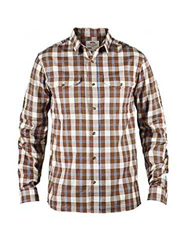 Fjällräven T-shirt singi Flannel LS oberhemd L rouille