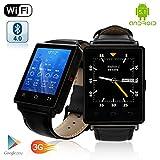 Indigi Premier 3G GSM desbloqueado Android 5.1OS reloj inteligente y teléfono + GPS (Mapas) + pulsómetro + Alarma