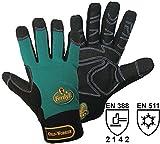 FerdyF Clarino®-Kunstleder Montagehandschuh Größe (Handschuhe): 10, XL EN 388, EN 511 Cat II Me
