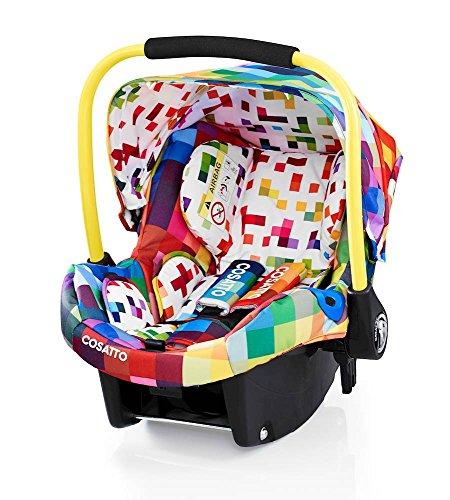 Preisvergleich Produktbild Cosatto Port - Baby Autositz 0-13 kg - Sicherheit + Schutz Für Die Kleinsten - Babyschale / Kindersitz Gruppe 0 - Erstausstattung Für Isofix + 3 Punkt Gurt, Pixelate