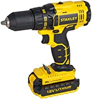 Stanley Cordless Brushless Drill Driver, Black/Yellow, Scd20S2K-B5