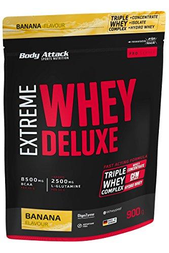Body Attack Extreme Whey Deluxe, Banana Cream, 900g Beutel -