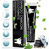 MayBeau Aktivkohle Zahnpasta Natürliche Zahnaufhellung Ohne Fluorid Zahnreinigung Bleaching Zähne Teeth Whitening Toothpaste Weiße Zähne Zahnbleaching Mint Flavour für Frischer Atem