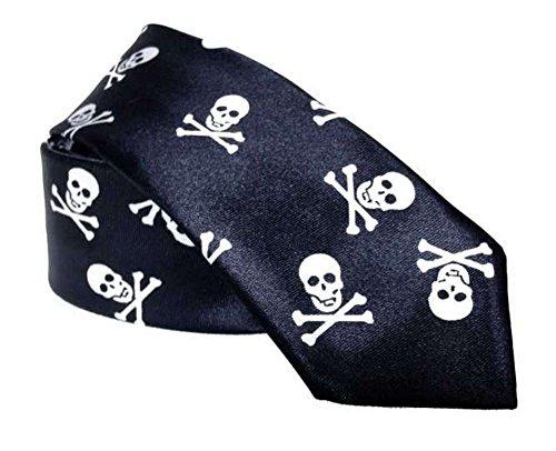 Black Out Gothic Krawatte Totenkopf Totenköpfe schwarz weiß