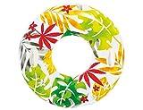 Intex Schwimmreif mit Blumenmotiv   Rot-Grün