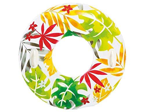 Intex Schwimmreif mit Blumenmotiv | Rot-Grün