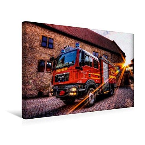 Braunschweig 2 Licht (Calvendo Premium Textil-Leinwand 45 cm x 30 cm quer, Gerätewagen Logistik 2 FF Schöningen | Wandbild, Bild auf Keilrahmen, Fertigbild auf echter Leinwand, Leinwanddruck Technologie Technologie)