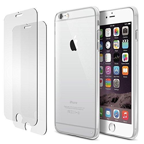 iPhone 6s 6 Hülle, iPhone 6s 6 Panzerglas, E-Unicorn Apple iPhone 6s 6 Hülle Silikon Transparent Durchsichtig Tasche Schutzhülle + 2 Stück Schutzfolie Glas Folie Zubehör 9H 3D