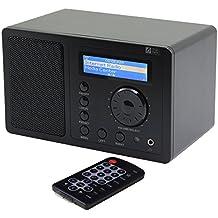 Ocean Digital Internet Radio WR220 Sintonizador de conexiones Wi-Fi WLAN Wireless Multimedia Música jugador receptor LCD pantalla-negro