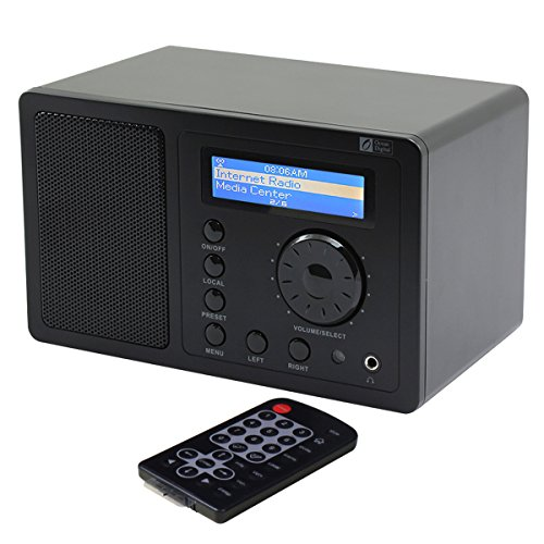 Ocean Digital Internet Radio WR220 Wifi Wlan Tuner Ricevitore desktop Wireless Music Media Player LCD Display- nero