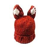 Quaan Frau Herbst Winter Kaschmir Hut Stricken Wolle Warm Hase Ohren Hut Winter Hut Ohrenschützer Trapper Warm Fellmütze