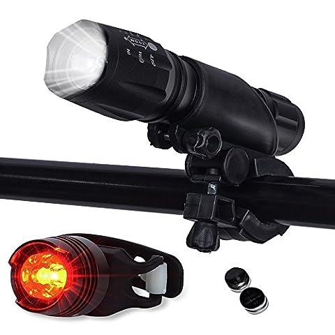 QITAO® LED Fahrradlicht, Topoint wasserdicht 1000 Lumen Fahrradlampe Set,super helle