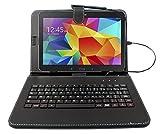 Etui clavier AZERTY noir pour tablettes Samsung Galaxy Tab S 10.5' (SM-T800 / T805), Tab S2 9.7' (SM-T810/T815) et Tab E 9.6 (SM-T560/T561)+ stylet tactile