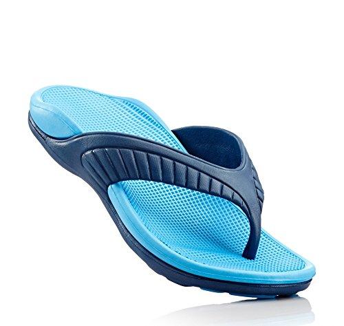 Messieurs Demi-semelles Pantolette de Fashy, 102429dans bleu foncé/bleu clair Multicolore - Multicolore