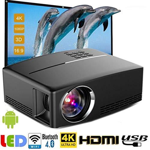 Genmaisima Projektor-Mini Tragbarer Videoprojektor-1800 Lumen LED Heimkino-Projektor-Unterstützung HD 1080P HDMI USB VGA AV für PC/Laptop/DVD/TV/Video/Foto/Spiel/Film Nec Led-tv