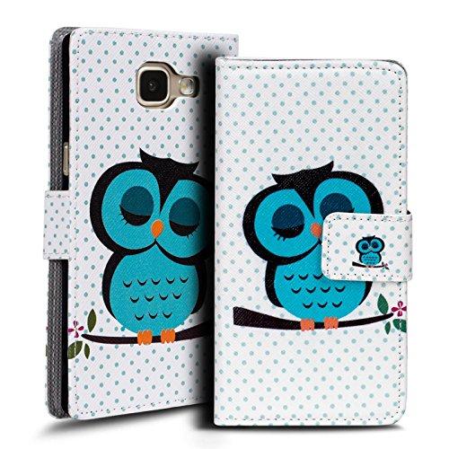 Verco Handyhülle Galaxy A3 2016 Muster, Motiv Hülle für Samsung Galaxy A3 Book Case Flip Cover - Design 21