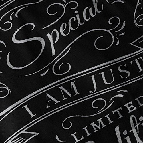 Besondere Typografie Slogan Besondere Spaß Damen S-2XL Muskelshirt | Wellcoda Schwarz