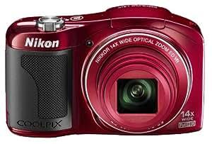"""Nikon Coolpix L609 Appareil photo numérique compact 16 Mpix Ecran 3"""" Zoom optique 14x Rouge"""
