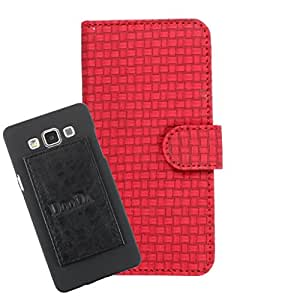 DooDa PU Leather Wallet Flip Case Cover With Card & ID Slots For Lava 405+ - Back Cover Not Included Peel And Paste