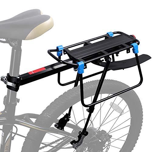 WESTGIRL Gepäckträger Fahrrad hinten, Schnellspanner Fahrrad Gepäck Cargo Rack mit Fender Verstellbares Fahrrad-Gepäckträger-Gestell Laden 50 KG -