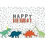 Cassisy 1,5x1m Vinilo Cumpleaños Telon de Fondo Feliz cumpleaños Bandera Dinosaurio del Bosque Papel