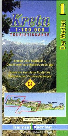 Kreta Touristikkarten Westen und Osten. 1:100.000: Harms-ic Touristikkarten, Kreta, Der Westen (Maps of Crete) (Ic-weste)