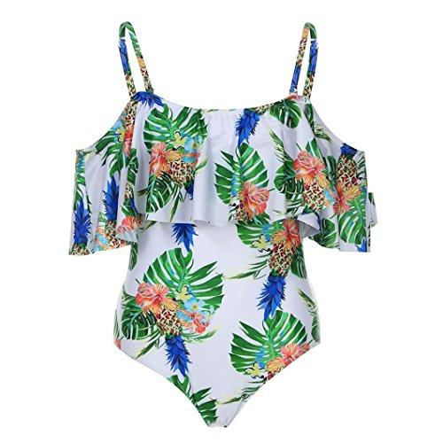 BYSTE Donne Costume Da Bagno A Balze Swimwear Di Colore Solido Casuale Spiaggia Di Sabbia Push Up Bikini Body Beachwear Bianca