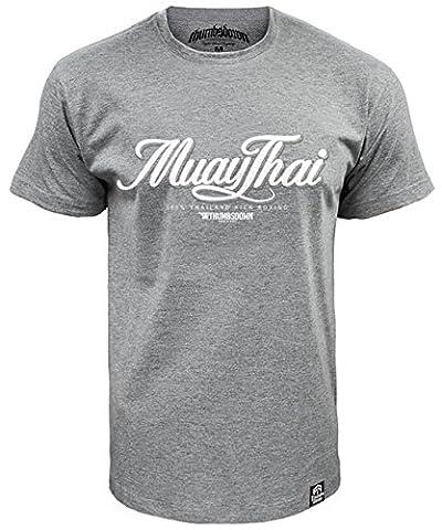 Muay Thai T-shirt 100% Thailand Kick Boxing (size Large)