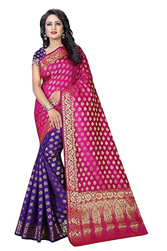 PMV Creation Women's Cotton Silk Saree,