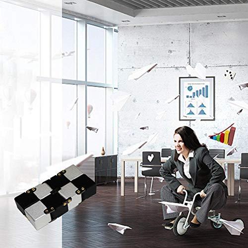 Infinity Cube Fidget Cube Toy Adatto per Adulti e Bambini, Nuova Versione Fidget Finger Toy Stress e ansia Relief Killing Time Giocattoli Fidget Infinite Cube Adatto per Office Staff (Nero) - 2